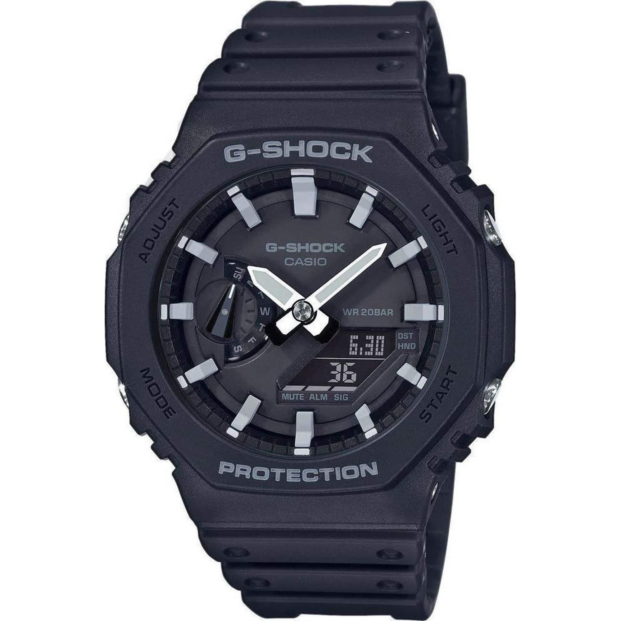 Casio G-Shock σε Μαύρο χρώμα GA-2100-1AER