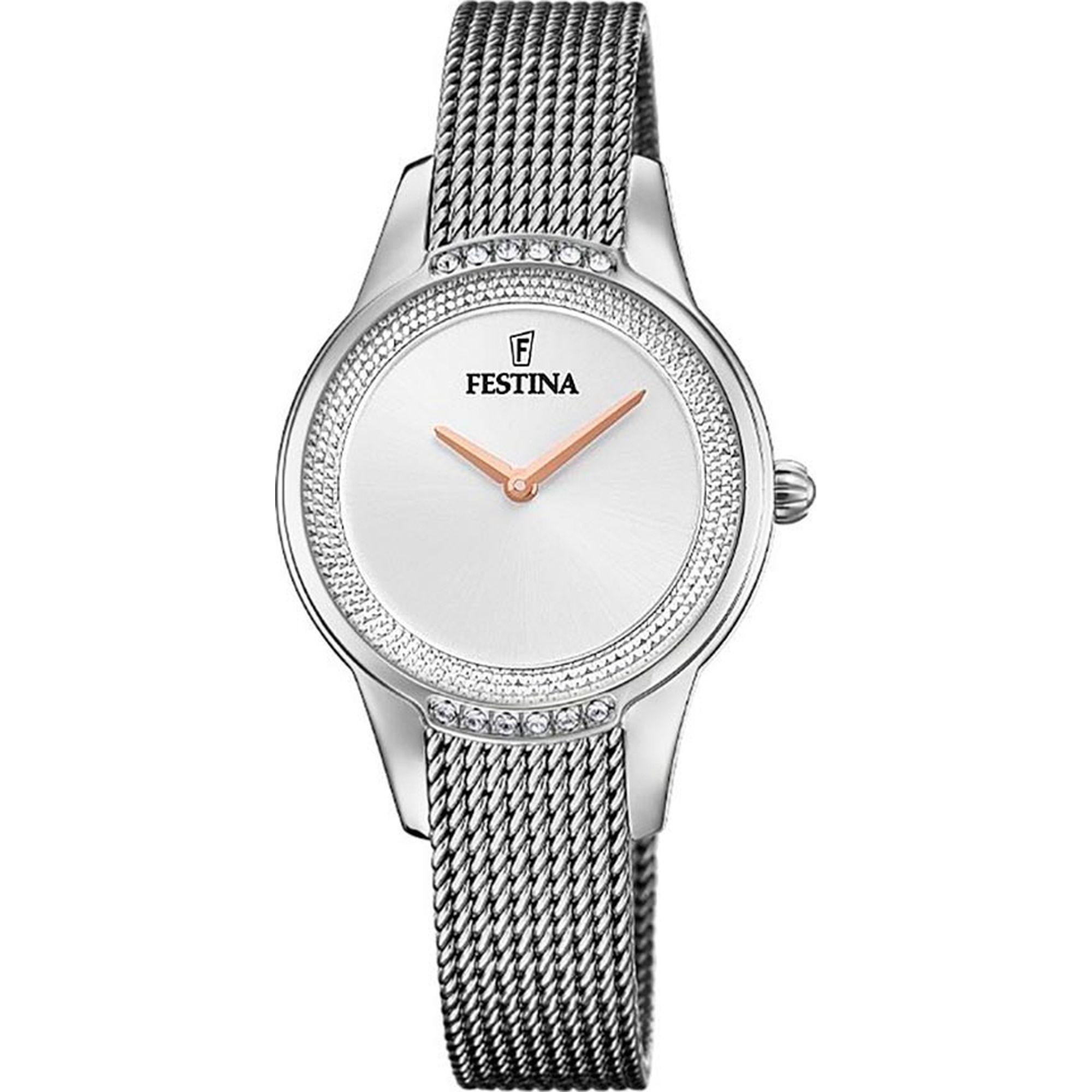 Ρολόι Festina με Ασημί Καντράν F20494/1